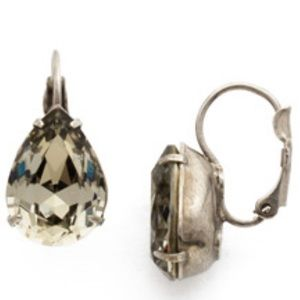 NWT SORRELLI teardrop crystal rock grey earring